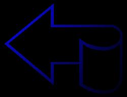 стрелка изогнутая синий рисунок изображение скачать бесплатно