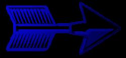 стрела перо синий рисунок изображение скачать бесплатно