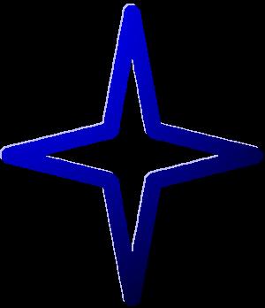 полярная звезда синий clipart клипарт кнопки сайта оформление