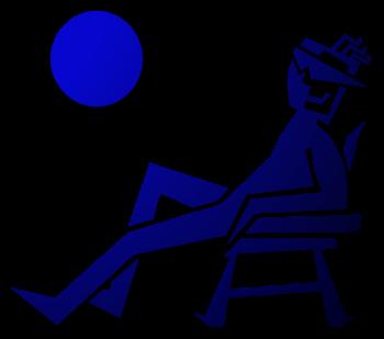 мужчина пляж загар солнце море лежак картинка фото логотип аватар скачать