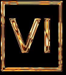 шесть 6 римская цифра рамка золото картинка фото скачать бесплатно