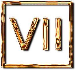 семь 7 римская цифра рамка золото картинка фото скачать бесплатно
