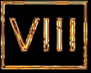 восемь 8 римская цифра рамка золото картинка фото скачать бесплатно