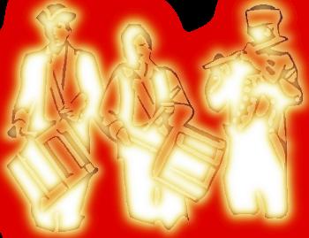 уличный оркестр рисунок изображение скачать бесплатно сценка