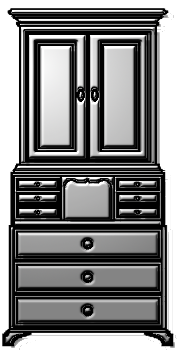 шкаф комод секретер горка clipart клипарт кнопки сайта оформление символ